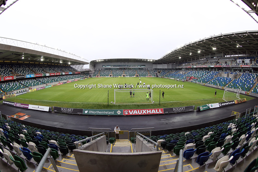 GV, General view of Windsor Park. All Whites training, Windsor Park, Belfast, Northern Ireland, Monday 29th May 2017. Photo: Shane Wenzlick / www.photosport.nz