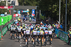 The peloton starts the first, neutralised lap of Stage 2 of the Madrid Challenge - a 100.3 km road race, starting and finishing in Madrid on September 16, 2018, in Spain. (Photo by Balint Hamvas/Velofocus.com)
