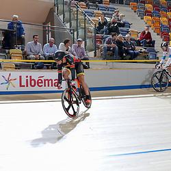 16-12-2016: Wielrennen: NK baanwielrennen: Apeldoorn  <br />APELDOORN (NED) wielrennen  <br />Sam Ligtlee in actie tijdens de eerste kwart finale rit