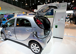 Peugeot ION electric car at Paris Motor Show 2010