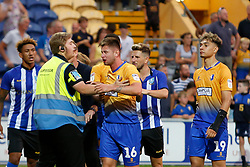 A bloodied Calum Butcher of Mansfield Town - Mandatory by-line: Ryan Crockett/JMP - 24/07/2018 - FOOTBALL - One Call Stadium - Mansfield, England - Mansfield Town v Sheffield Wednesday - Pre-season friendly