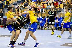 Bjarte Myrhol #18 of Rhein-Neckar Lowen during handball match between RK Celje Pivovarna Lasko (SLO) vs Rhein-Neckar Lowen (GER) in 3rd Round of Group A of EHF Champions League 2013/14 on October 12, 2013 in Arena Zlatorog, Celje, Slovenia. (Photo By Urban Urbanc / Sportida)