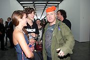 HARRIET CLAPHAM; CONNOR HIRST; DAMIEN HIRST, Opening of new White Cube Gallery in Bermondsey. London. 11 October 2011. <br /> <br />  , -DO NOT ARCHIVE-© Copyright Photograph by Dafydd Jones. 248 Clapham Rd. London SW9 0PZ. Tel 0207 820 0771. www.dafjones.com.