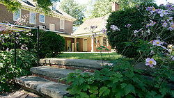 This steps lead visitors down from the lawn to the Colonial Revival Garden. (Bas Slabbers/for NewsWorks)