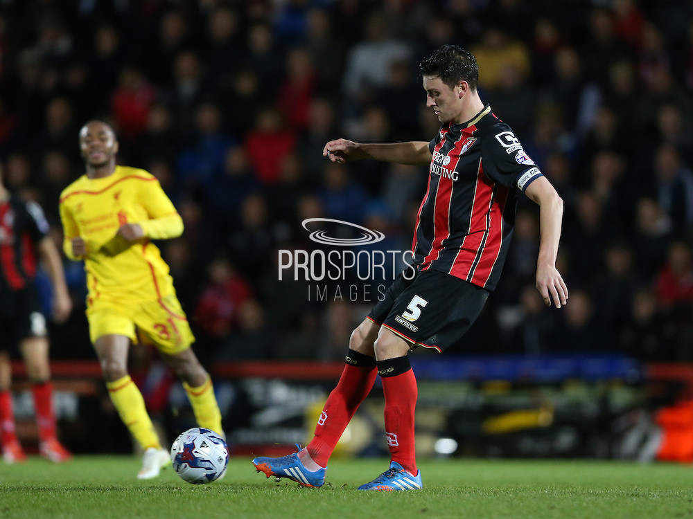 AFC Bournemouth defender Tommy Elphick during the Capital One Cup match between Bournemouth and Liverpool at the Goldsands Stadium, Bournemouth, England on 17 December 2014.
