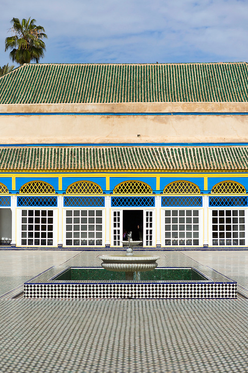 Bahia Palace Riad Architecture, Marrakesh, Morocco, 2016–04-21. <br />