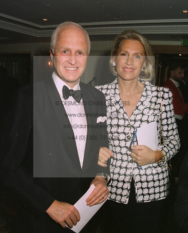 MR WINSTON CHURCHILL MP and his constant companion MRS LUCE DANIELSON,  at a dinner in London on April 14th 1997.LXO 37