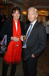 Jockey LESTER PIGGOTT and his daughter MAUREEN HAGGAS at The Sir Peter O'Sullevan Charitable Trust Lunch at The Savoy, London on 23rd November 2005.<br />