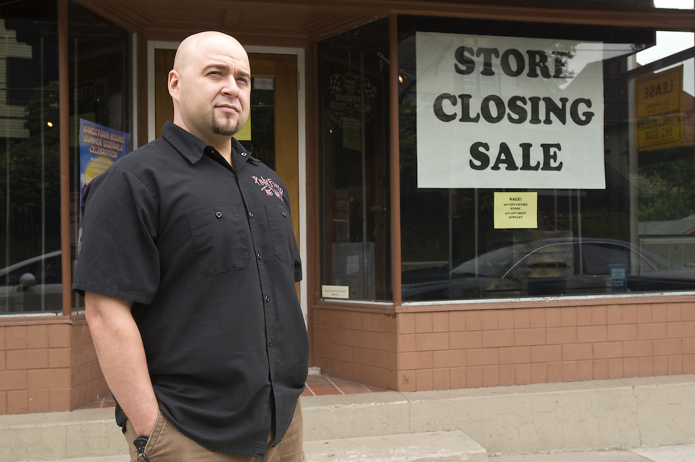 Robert Rivera, owner of the soon-to-close retailer, The Cage, Tuesday, May 17, 2011 on Bardstown Road in Louisville, Ky. (Photo by Brian Bohannon)