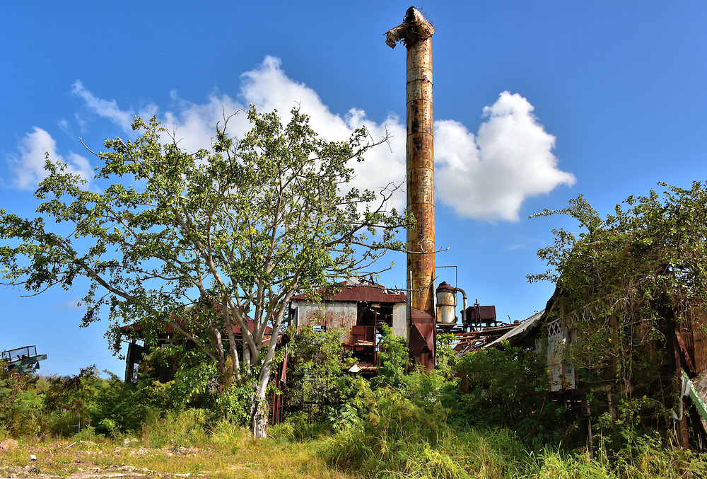 Gunthorpe&rsquo;s Sugar Factory in Ruins in Piggoffs, Antigua<br />