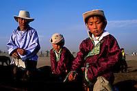 Mongolie, Oulaan Bator, Fête du Naadam, course de chevaux // Mongolia, Ulaan Bator, Naadam festival, horse race