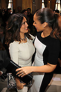 PARIS, FRANCE - MARCH 05:  Salma Hayek and Alicia Keys attend the Stella McCartney Ready-To-Wear Fall/Winter 2012 show as part of Paris Fashion Week on March 5, 2012 at the City Hall in Paris, France.  (Photo by Tony Barson/WireImage)