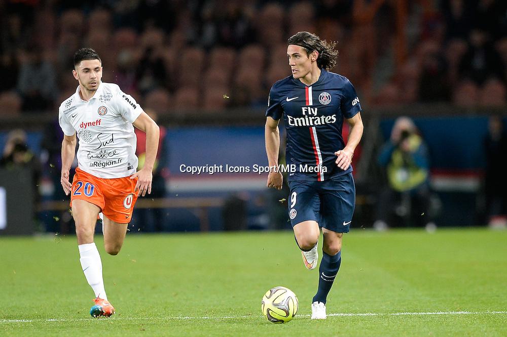 Morgan SANSON / Edinson CAVANI - 20.12.2014 - Paris Saint Germain / Montpellier - 17eme journee de Ligue 1 -<br />Photo : Aurelien Meunier / Icon Sport
