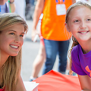 August 16, 2014, New Haven, CT:<br /> Eugenie Bouchard poses for a photograph as she signs autographs during WTA All-Access Hour on day three of the 2014 Connecticut Open at the Yale University Tennis Center in New Haven, Connecticut Sunday, August 17, 2014.<br /> (Photo by Billie Weiss/Connecticut Open)