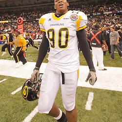 2008 November, 29: Grambling State defensive end Christian Anthony (90) celebrates following a 29-14 win over Southern University during the 35th annual State Farm Bayou Classic at the Louisiana Superdome in New Orleans, LA.  .