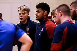 Richard Capstick and Rusi Tuima of England Under 20s in action during training ahead of the Under 20s Six Nations - Mandatory by-line: Robbie Stephenson/JMP - 14/01/2020 - RUGBY - Loughborough University - Loughborough, England - England U20s Training