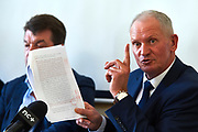 Warsaw, Poland - 2017 March 14: Miroslaw Skrzypczynski Board Member at Polish Tennis Federation speaks in Press Conference at Centrum Konferencyjne Wilcza 9 on March 14, 2017 in Warsaw, Poland.<br /> <br /> Mandatory credit:<br /> Photo by &copy; Adam Nurkiewicz / Mediasport<br /> <br /> Adam Nurkiewicz declares that he has no rights to the image of people at the photographs of his authorship.<br /> <br /> Picture also available in RAW (NEF) or TIFF format on special request.<br /> <br /> Any editorial, commercial or promotional use requires written permission from the author of image.<br /> <br /> Image can be used in the press when the method of use and the signature does not hurt people on the picture.