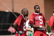 Football coaches for the Arkansas Razorbacks during the 2007 season.  Football practice...©Wesley Hitt.All Rights Reserved.501-258-0920.