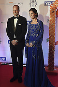 April 10, 2016 - Mumbai, INDIA - <br /> <br /> Britain's Prince William, and his wife, Kate, the Duchess of Cambridge, pose after they arrive for a charity ball at the Taj Mahal Palace hotel  in Mumbai, India, Sunday, April 10, 2016. The royal couple began their weeklong visit to India and Bhutan, by laying a wreath at a memorial Sunday at Mumbai iconic Taj Mahal Palace hotel, where 31 victims of the 2008 Mumbai terrorist attacks were killed.<br /> ©Exclusivepix Media