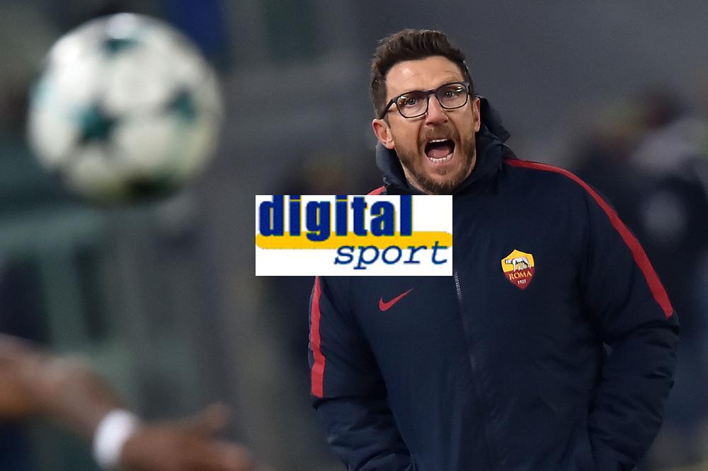 Eusebio Di Francesco coach AS Roma<br /> Roma 05-12-2017 Stadio Olimpico Uefa Champions League A 2017/2018 Group C AS Roma - Qarabag Foto Andrea Staccioli / Insidefoto