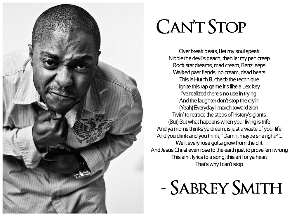 Sabrey Smith performs a verse from his song Can't Stop.