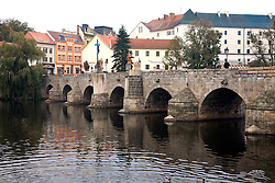 Pisek, Czech Republic:  This old stone bridge was built before the end of the 13th century and remains in use today, connecting the two sides of town.