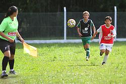 Lance da partida entre as equipes do Degafut e Sapiranga, válida pela Copa Coca-Cola, no campo do Parque Floresta Imperial, em Novo Hamburgo. FOTO: Lucas Uebel/Preview.com