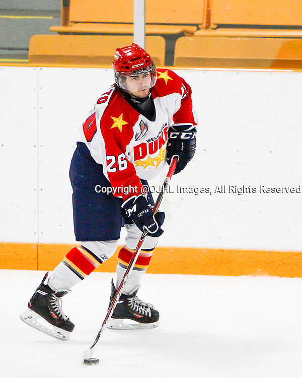 AURORA, ON - Oct 18, 2014 : Ontario Junior Hockey League game action between Wellington and Aurora,<br /> (Photo by Brian Watts / OJHL Images)