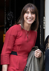 © Licensed to London News Pictures. 18/09/2018. London, UK. Samantha Cameron arrives  in Downing Street to attend a  Fashion Week reception hosted by Prime Minister Theresa May. Photo credit: Peter Macdiarmid/LNP