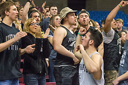 The North Marion student section cheers prior to the tip  against Lincoln for coaching in the state of West Virginia.