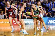 Fever player Natalie Medhurst during their ANZ Championship Netball game between the Mainland Tactix v West Coast Fever. Marlborough Lines Stadium 2000, Blenheim, New Zealand. Sunday 12 April 2015. Copyright Photo: Chris Symes / www.photosport.co.nz