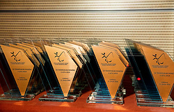 Trophies during Slovenian Disabled Sports personality of the year 2019 event, on January 21, 2020 in Austria Trend Hotel, Ljubljana, Slovenia. Photo by Vid Ponikvar / Sportida