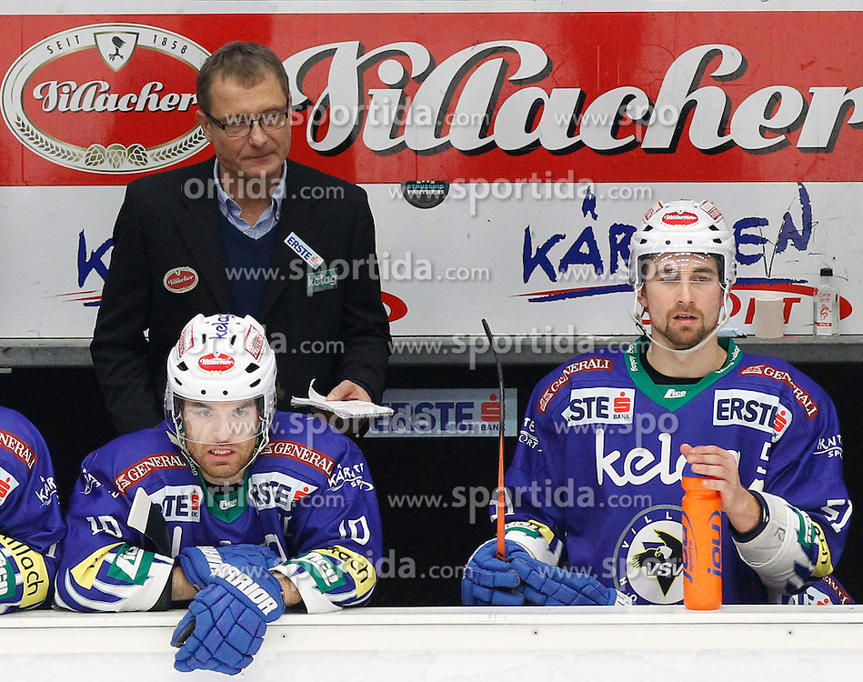 21.11. 2014, Stadthalle, Villach, AUT, EBEL, EC VSV vs EC Red Bull Salzburg, 19. Runde, im Bild Hannu Jaervenpaeae (VSV Trainer) // during the Erste Bank Icehockey League 19th round match between EC VSV vs EC Red Bull Salzburg at the City Hall in Villach, Austria on 2014/11/21, EXPA Pictures © 2014, PhotoCredit: EXPA/ Oskar Hoeher