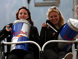 Girls of Red Bull during Flying Hill Individual competition at 4th day of FIS Ski Jumping World Cup Finals Planica 2012, on March 18, 2012, Planica, Slovenia. (Photo by Urban Urbanc / Sportida.com)