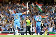 Virat Kohli hits the winning runs for India. T20 international, Australia v India. Sydney Cricket Ground, NSW, Australia, 25 November 2018. Copyright Image: David Neilson / www.photosport.nz