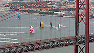 PORTUGAL, Lisbon. 9th June 2012. Volvo Ocean Race, Oeiras In-Port Race. 25th of April Bridge over the Tejo river.