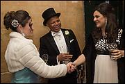 SHERIDAN TAYLOR; EMMANUEL EFUNBOTE, DR. DUNJA AKSENTIJEVIC Oxford University Polo club Ball, Blenheim Palace. Woodstock. 6 March 2015