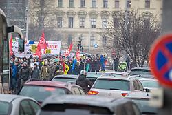 17.03.2018, Wien, AUT, Demonstration gegen Rassismus und Faschismus in Wien, im Bild Demonstranten // during protest against racism and fascism, in Vienna, Austria on 2018/03/17. EXPA Pictures © 2018, PhotoCredit: EXPA/ Florian Schroetter