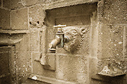 Water faucet, Mont Saint-Michel monastery, Normandy, France