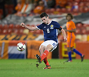 9th November 2017, Pittodrie Stadium, Aberdeen, Scotland; International Football Friendly, Scotland versus Netherlands; Scotland's John McGinn