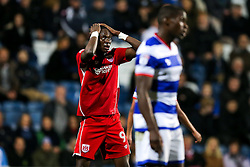 Tammy Abraham of Bristol City looks frustrated after a shot goes wide - Rogan Thomson/JMP - 18/10/2016 - FOOTBALL - Loftus Road Stadium - London, England - Queens Park Rangers v Bristol City - Sky Bet EFL Championship.