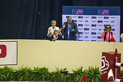 Verlooy Axel and Verlooy Nena supporting for their son Verlooy Jos, (BEL), Domino<br /> Longines FEI World Cup™ Jumping Final III round 1<br /> Las Vegas 2015<br />  © Hippo Foto - Dirk Caremans<br /> 19/04/15