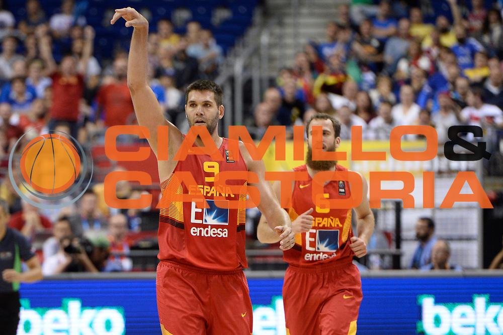 DESCRIZIONE: Berlino EuroBasket 2015 - <br /> Turkey Spain<br /> GIOCATORE: Felipe Reyes<br /> CATEGORIA: Esultanza<br /> SQUADRA: Spain<br /> EVENTO: EuroBasket 2015 <br /> GARA: Berlino EuroBasket 2015 - Turkey vs Spain<br /> DATA: 06-09-2015 <br /> SPORT: Pallacanestro <br /> AUTORE: Agenzia Ciamillo-Castoria/I.Mancini <br /> GALLERIA: FIP Nazionali 2015 FOTONOTIZIA: Berlino EuroBasket 2015 - Turkey vs Spain
