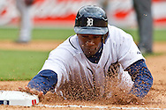 April 9, 2010:  Detroit Tigers' Austin Jackson (14) during the MLB baseball game between Cleveland Indians vs Detroit Tigers at  Comerica Park in Detroit, Michigan.