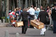 His highness prince Pieter-Christiaan of Oranje Nassau, of Vollenhoven and Ms drs. A.T. van Eijk get married  in the Great or St Jeroens Church in Noordwijk. <br /> <br /> <br /> Zijne Hoogheid Prins Pieter-Christiaan van Oranje-Nassau, van Vollenhoven en mevrouw drs. A.T. van Eijk treden in het (kerkelijk) huwelijk in de Grote St. Jeroenskerk in Noordwijk<br /> <br /> On the photo/Op de foto: