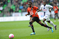 FOOTBALL - FRENCH CHAMPIONSHIP 2011/2012 - L1 - STADE RENNAIS v TOULOUSE FC - 18/03/2012 - PHOTO PASCAL ALLEE / DPPI - JONATHAN PITROIPA (RENNES) / SERGE AURIER (TFC)