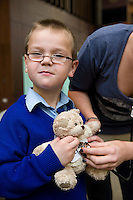 Teddy Bear Hospital in the Unversity in Galway  where Luke Finnerty   from Kilbeacanty Co. Galway got his Teddys healed . Photo:Andrew Downes.