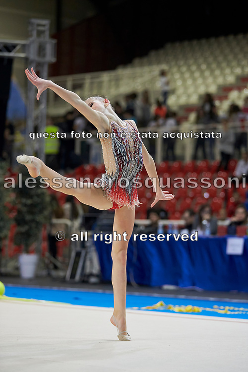 Serena Ottaviani from Fabriano team during the Italian Rhythmic Gymnastics Championship in Padova, 25 November 2017.