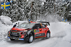 February 15, 2018 - Suede - Mads Ostberg (NOR) Ð Torstein Eriksen (NOR) - Citroen C3 WRC (Credit Image: © Panoramic via ZUMA Press)