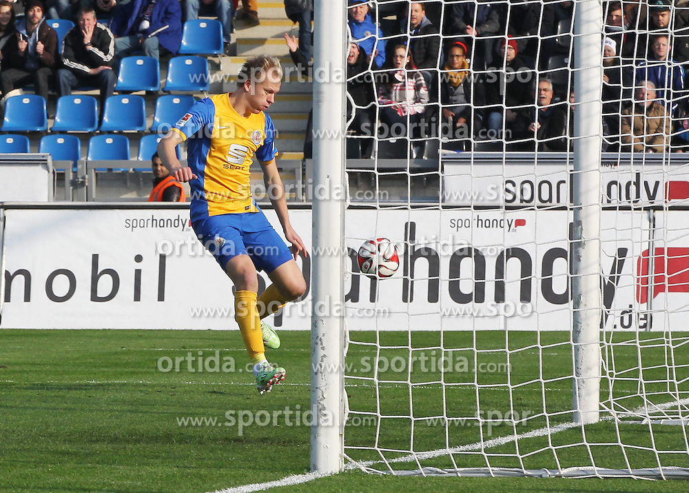 22.11.2014, Frankfurter Volksbank Stadion, Frankfurt, GER, 2. FBL, FSV Frankfurt vs Eintracht Braunschweig, 14. Runde, im Bild vl. Tor zum 0:1 Havard Nielsen (Eintracht Braunschweig) // during the 2nd German Bundesliga 14th round match between 1FSV Frankfurt and Eintracht Braunschweig at the Frankfurter Volksbank Stadion in Frankfurt, Germany on 2014/11/22. EXPA Pictures &copy; 2014, PhotoCredit: EXPA/ Eibner-Pressefoto/ Voelker<br /> <br /> *****ATTENTION - OUT of GER*****